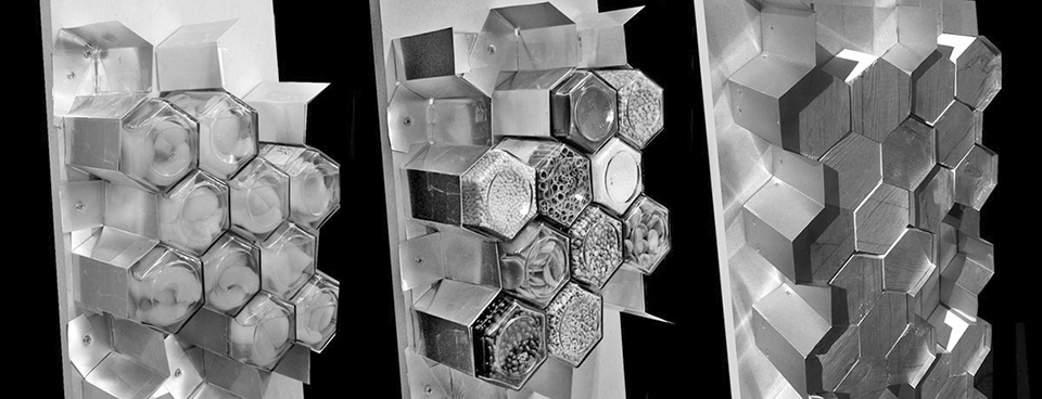 UT Knoxville Spice Wall Rack Restaurant Installation Hex Jar Prototypes