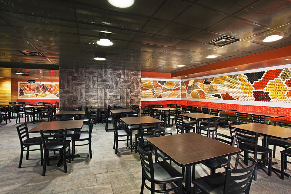 UT Knoxville Spice Wall Rack Restaurant Installation Hex Jar Overall Layout
